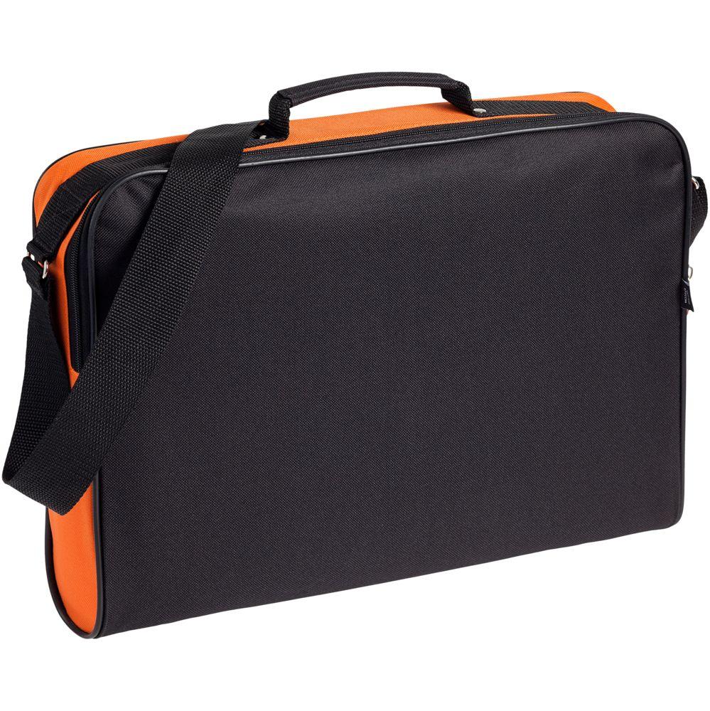 31cedd1e15dd Сумка для документов Unit Metier, черная с оранжевой отделкой с логотипом в  Москве заказать по ...